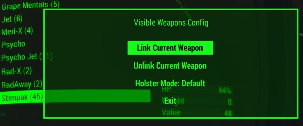 Visible Weapons Config