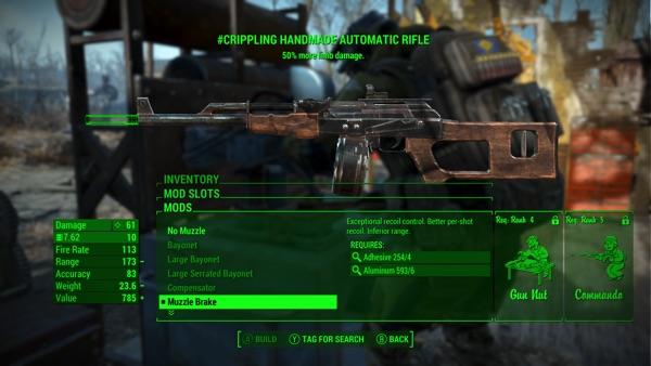 Fallout 4 ハンドメイドライフル