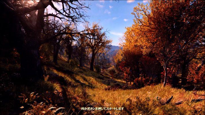 Fallout 76 タイトル画面