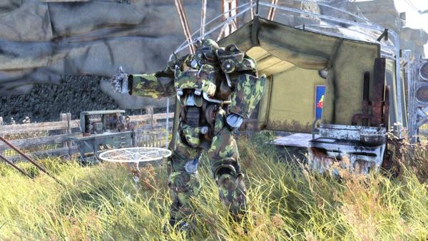 Fallout 76 迷彩仕様パワーアーマー
