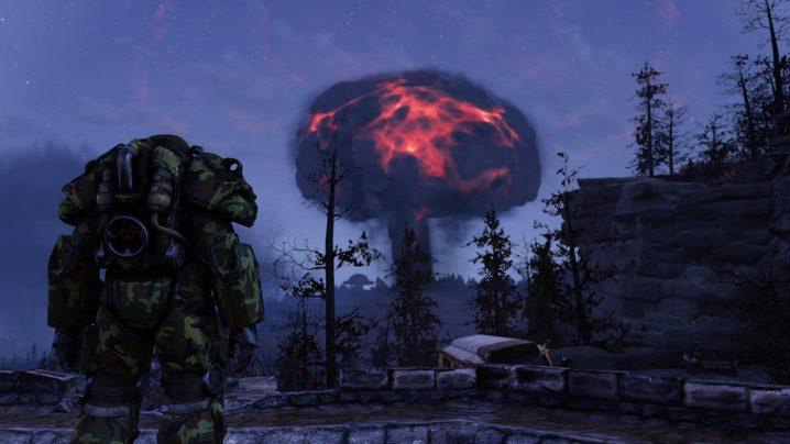 Fallout 76 核ミサイル着弾