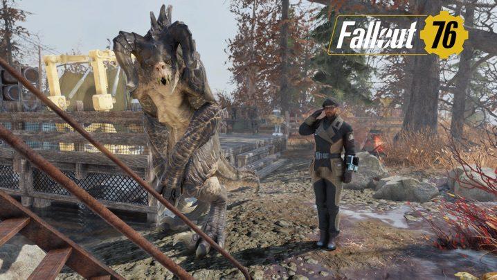 Fallout 76 デスクローと一緒