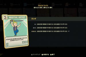 Fallout 76 Martial Artist