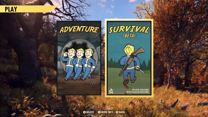 Fallout 76 サバイバルモード