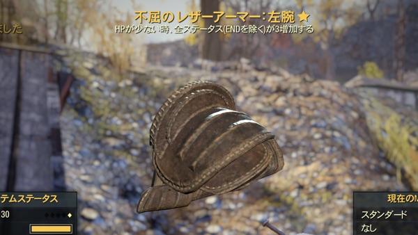 Fallout 76 不屈のレザーアーマー
