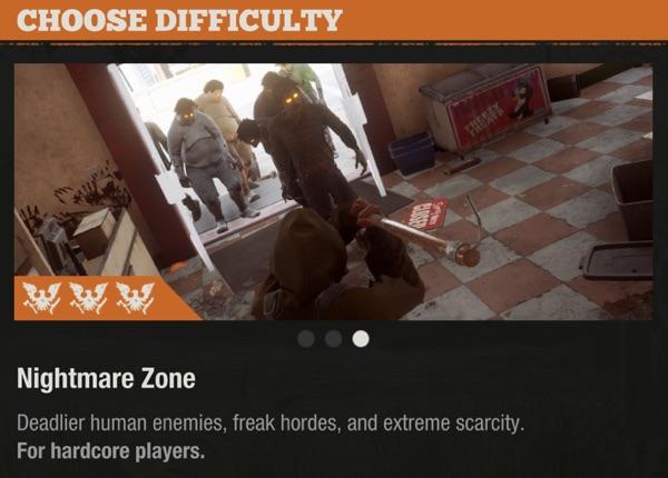 State of Decay 2 追加難易度