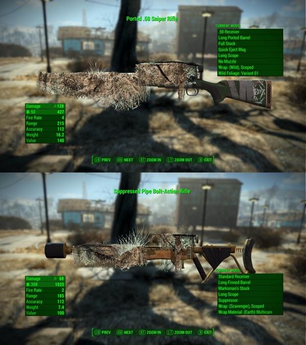Ghillie Mod Redux 武器の改造