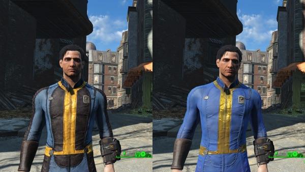 Proto Vault Suit Re-Texture 比較