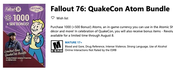 QuakeCon Atom Bundle