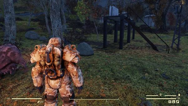 Fallout 76 パワーアーマーHUD