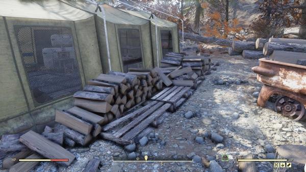 Fallout 76 シルヴィ&サンズログキャンプ