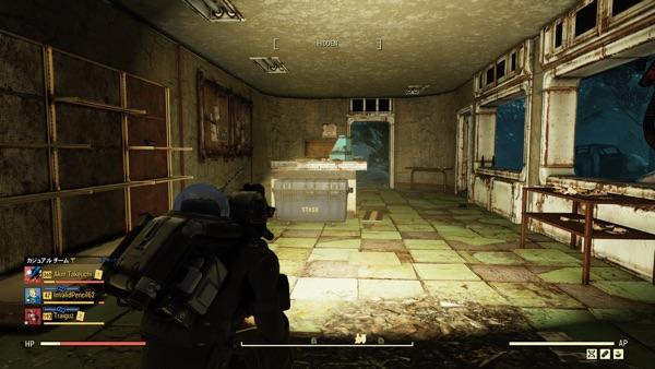 Fallout 76 深部採掘のガスマスクを回収した