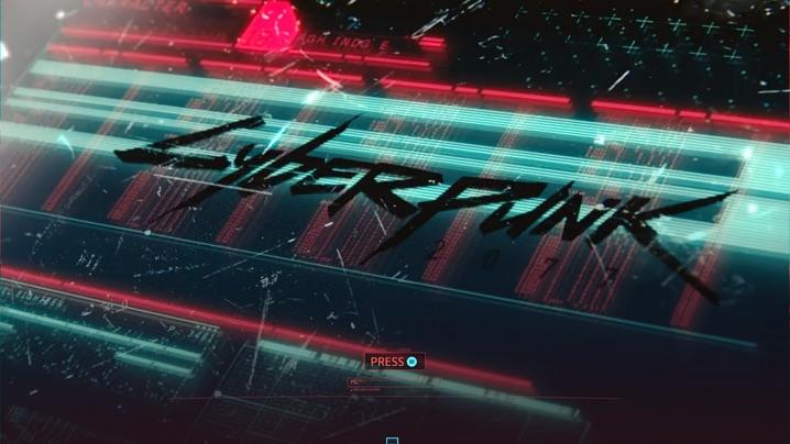 Cyberpunk 2077 タイトル画面