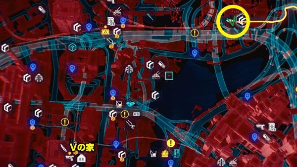 Cyberpunk 2077 アルマジロ設計図の場所
