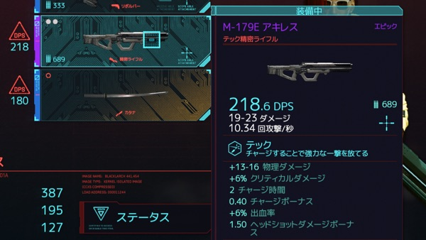 Cyberpunk 2077 アキレス