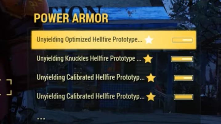 Fallout 76 不屈パワーアーマー
